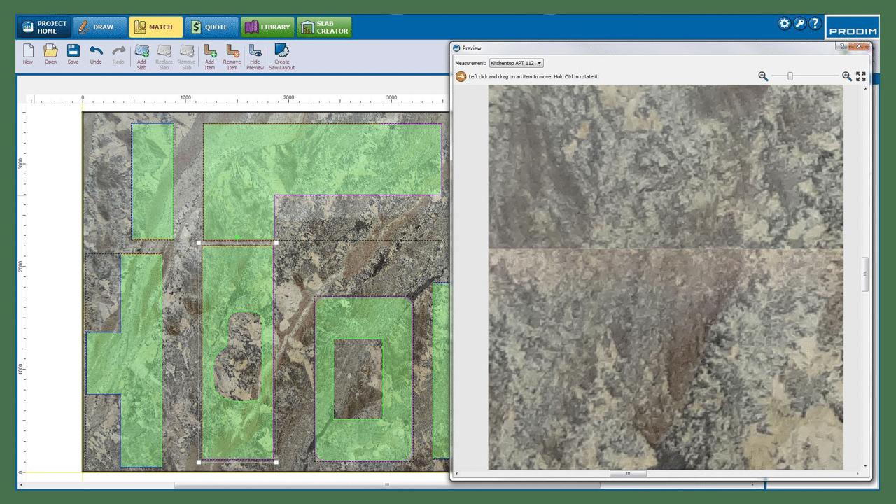 Screenshot - Prodim Factory-Software – Platte Abstimmung