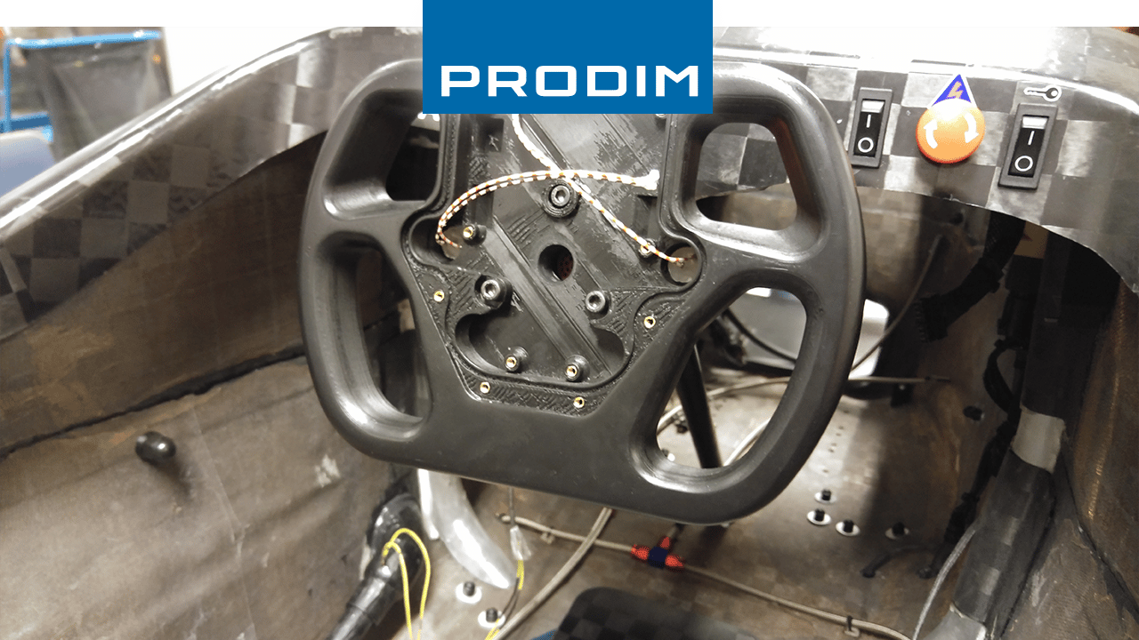 Prodim 3D printed the steering wheel for the URE race car