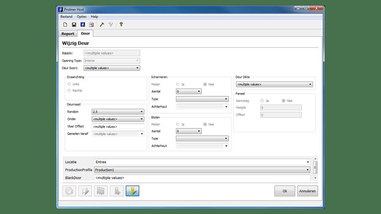 Screenshot - Prodim Proliner Tür Software
