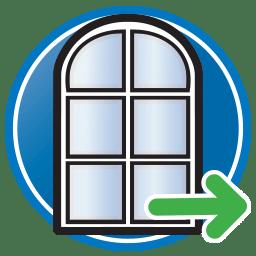 Schaltfläche, um unsere Tür- und Fensterrahmen-Lösungen Seite zu Besuchen