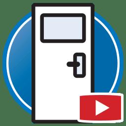 Schaltfläche, um Proliner- Videos von dass digital Erstellen von Templates für Türen an zu sehen