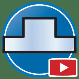 Schaltfläche, um Proliner- Videos von dass digital Erstellen von Templates für Glasrückwände an zu sehen