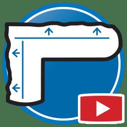 Schaltfläche zum Ansehen von Proliner-Videos zum Messen physikalischer Templates für Glasprodukte