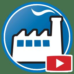 Schaltfläche, um Videos von Prodim Factory Business-Management-Software zu sehen