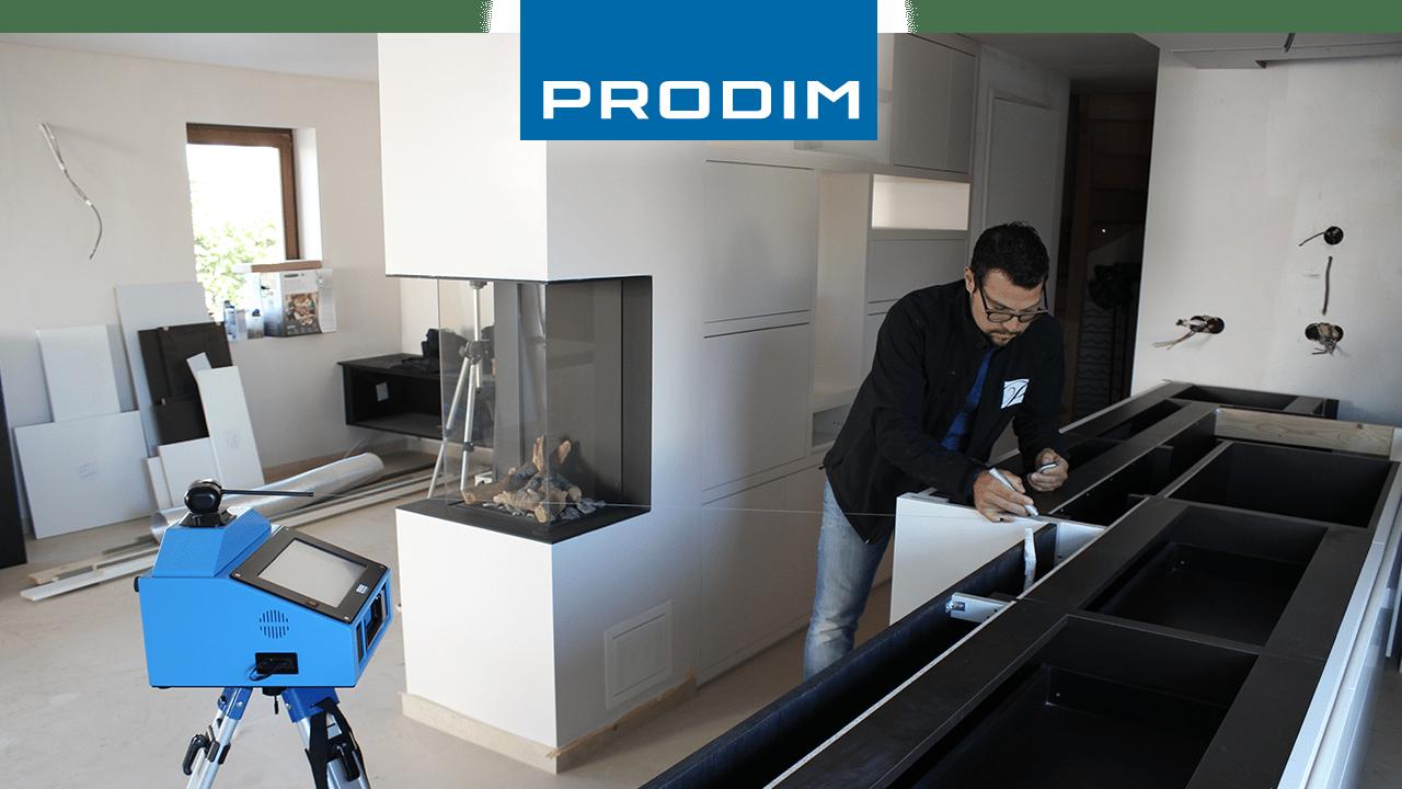 Prodim Video von das Erstellen von ein Digitale Template von einer Arbeitsplatte durch Potier Stone