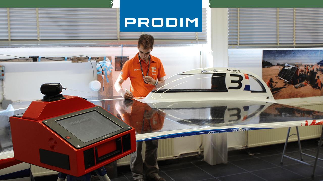 Digitales Messgerät Prodim Proliner - Wird für die Qualitätskontrolle von Nuna 8, dem Solarauto von Nuon Racing Team, verwendet