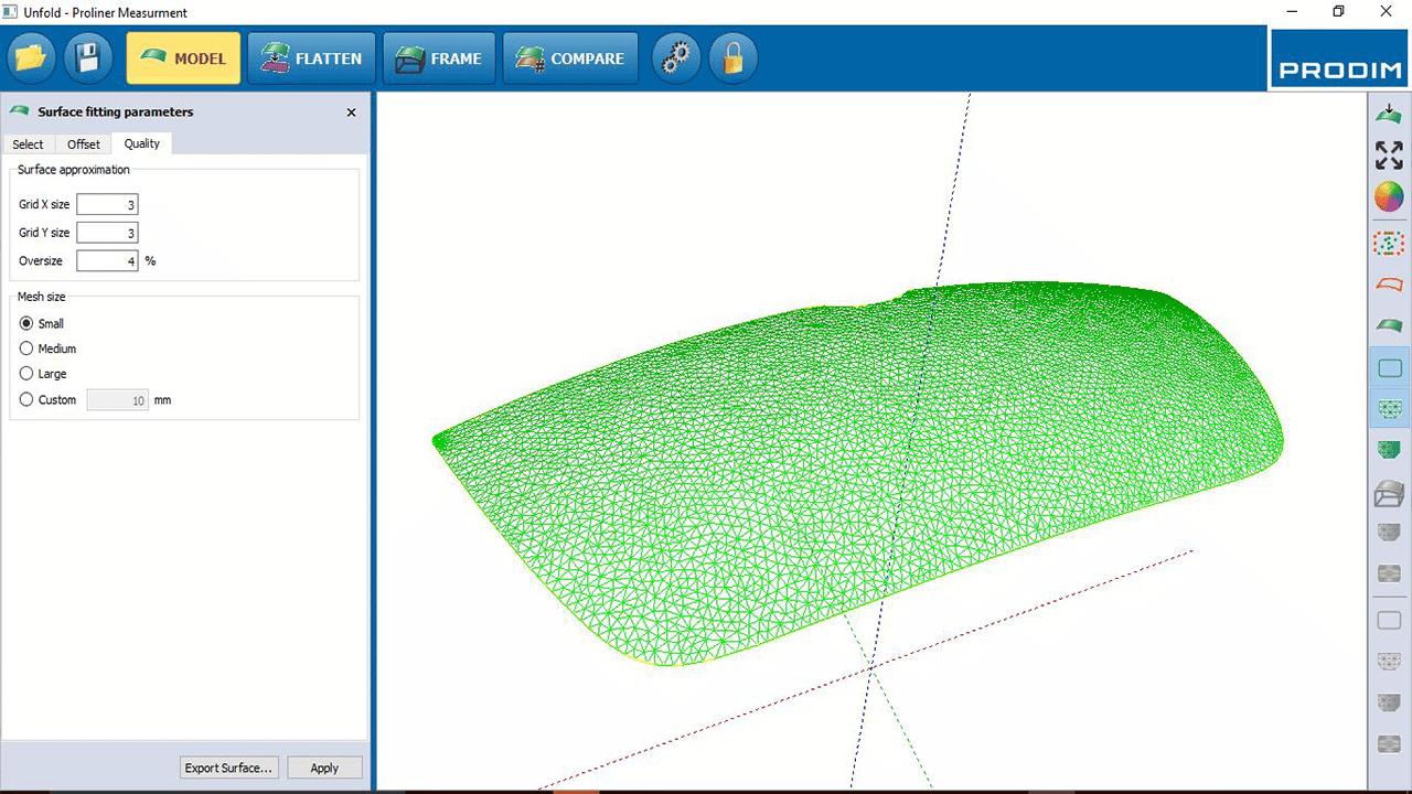 Software - Prodim Bent Glass Software - Modellieren
