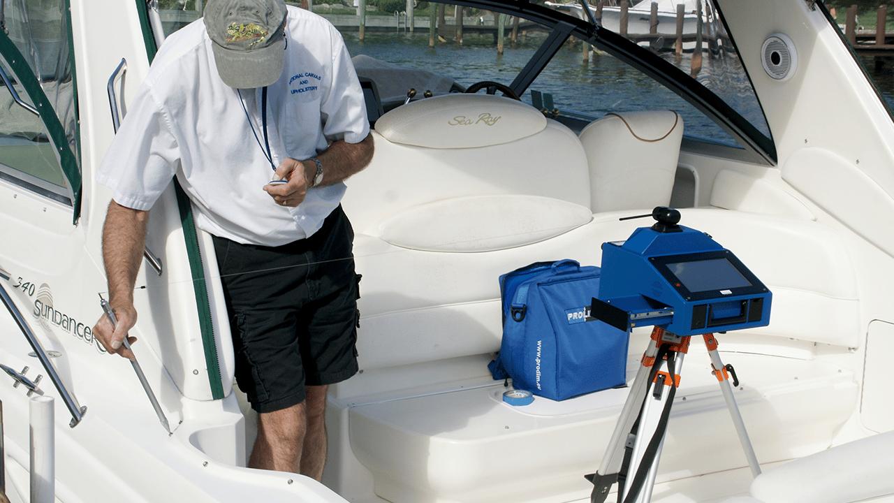 Prodim Proliner IPT - Wird in der Marine Industrie zur Messung schwer erreichbarer Stellen eingesetzt