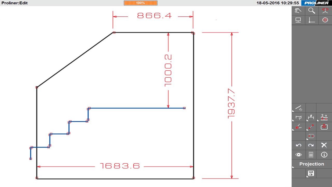 Prodim Architekturglasindustrie Lösungen - Balustrade – Erstellen von digitale Templates