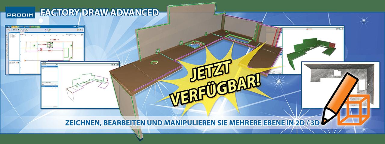 Prodim Factory Draw Advanced - Zeichnen, bearbeiten und manipulieren sie mehrere ebene in 2D/3D - Schau das Video