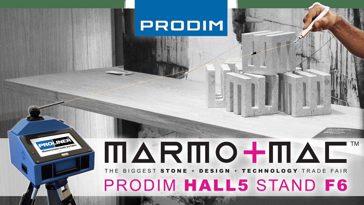 Prodim stellt auf Marmomac 2018 in Verona (IT) - Hall 5 - Stand F6
