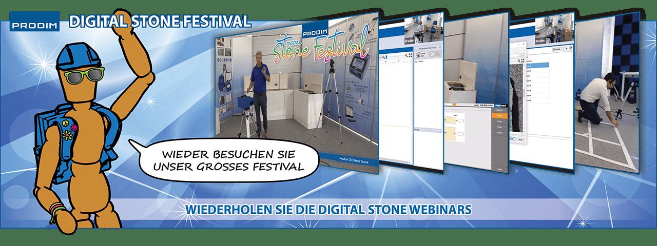 Slider - Wieder Besuchen Sie Prodim's Digital Stone Festival